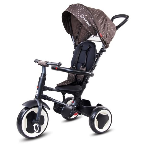 Tricicleta cu sezut reversibil sun baby 013 qplay rito - brown imagine