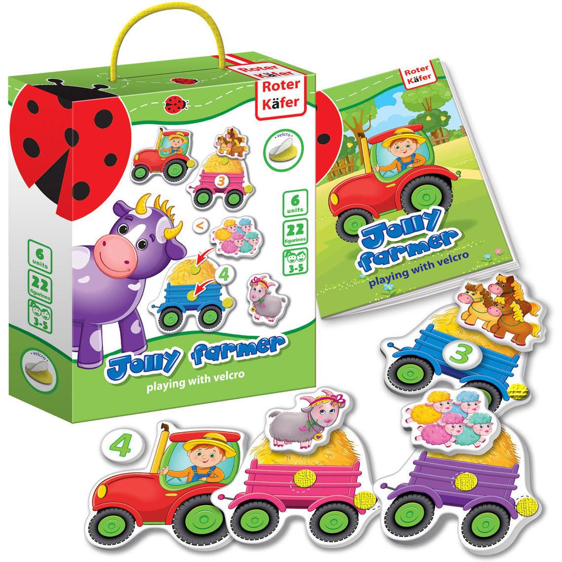 Joc educativ cu velcro Jolly Farmer Roter Kafer RK6101-03