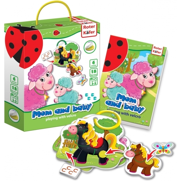 Joc educativ cu velcro Mami si Bebe Roter Kafer RK6101-04