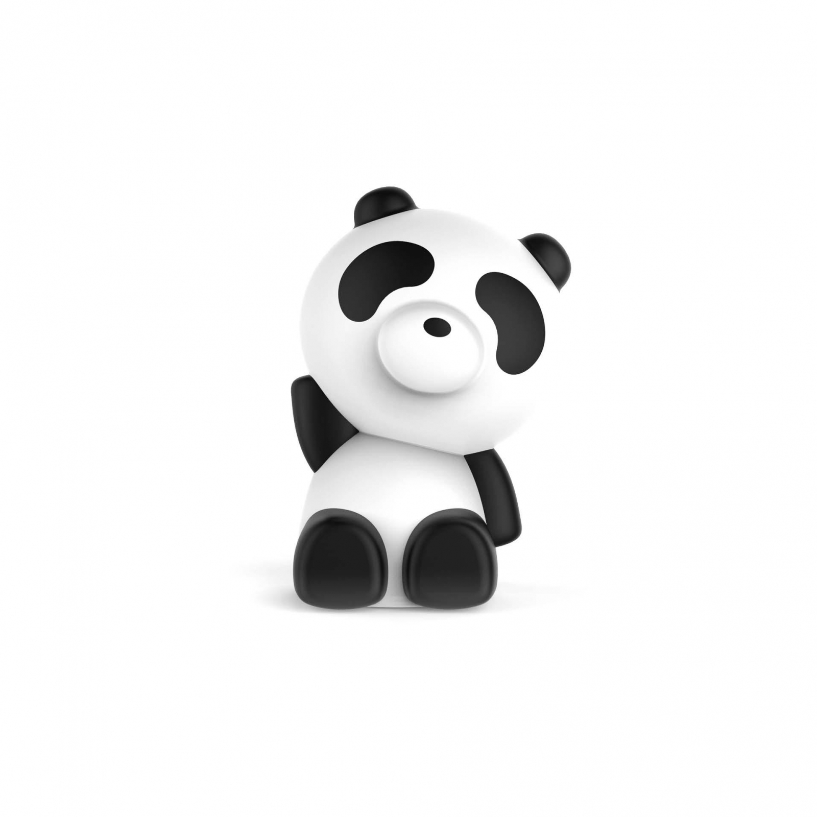 BOXA PORTABILA LUMINOASA BLUETOOTH PANDA BIGBEN, 33 CM imagine