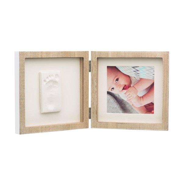 Rama foto lemn patrata cu amprenta Baby Art imagine
