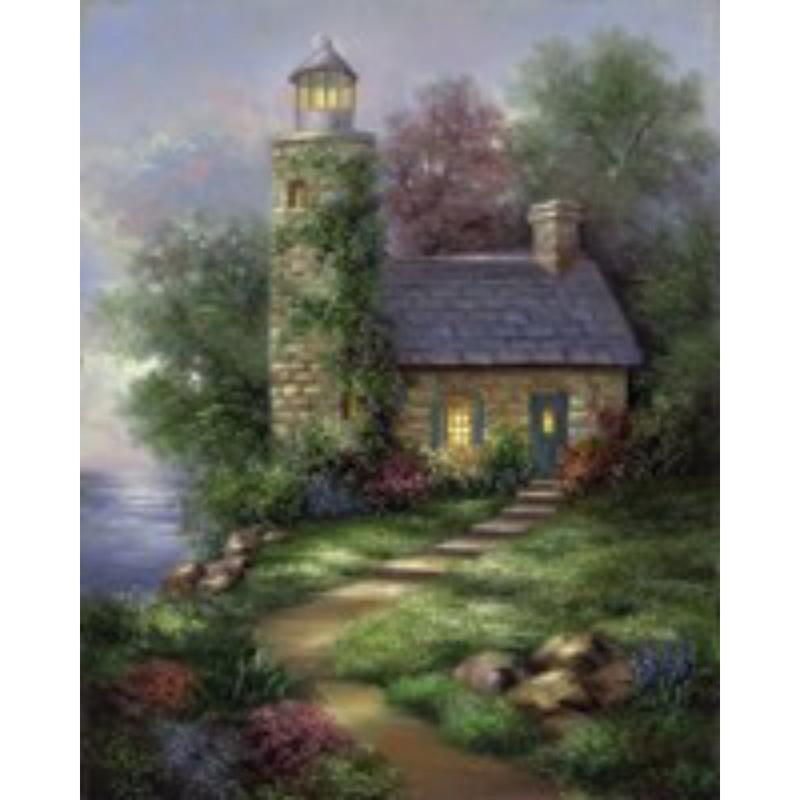 Set pictura artistica pe panza - Far romantic imagine