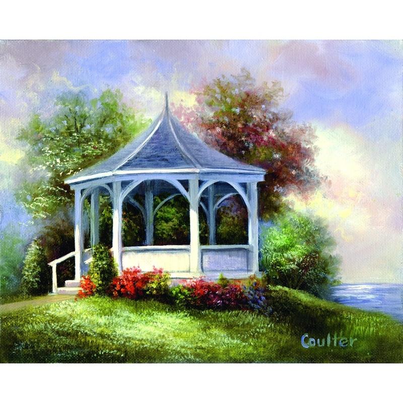 Set pictura artistica pe panza - Lac GAZEBO imagine