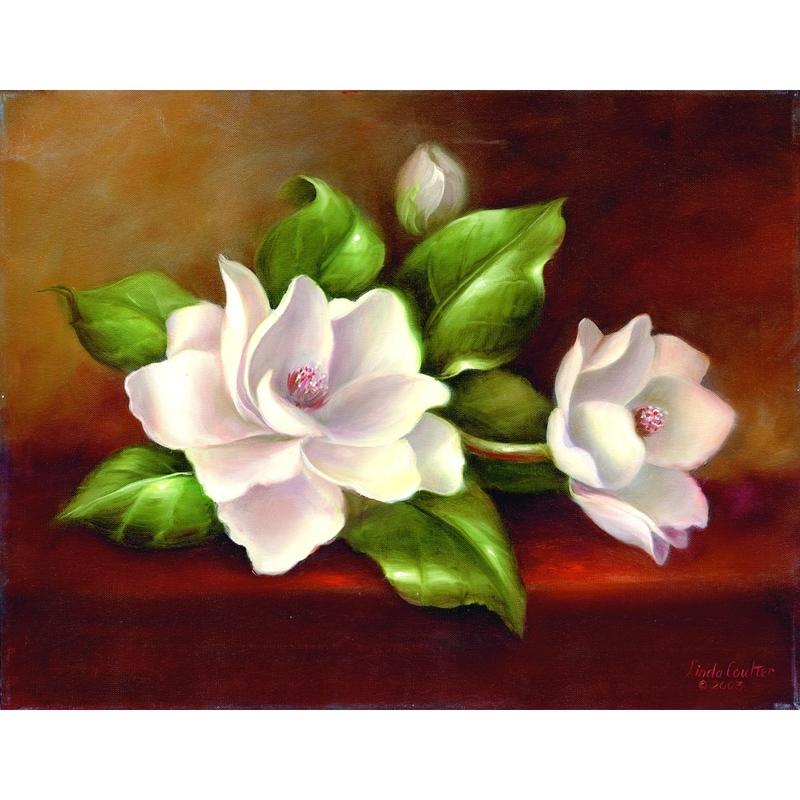 Set pictura artistica pe panza - Magnolia imagine