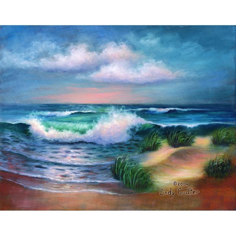 Set pictura artistica pe panza - Plaja HAMPTON imagine