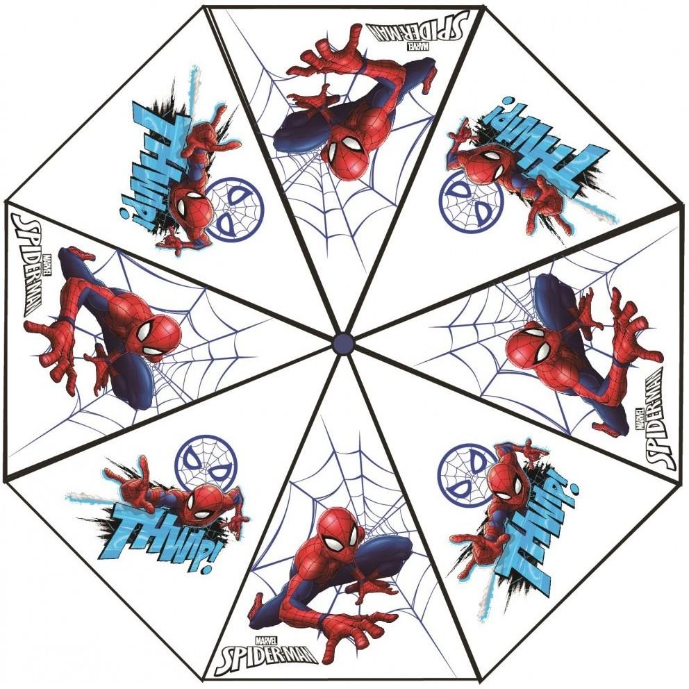 Umbrela transparenta Spiderman, diametru 76 cm SunCity CTL08836 imagine