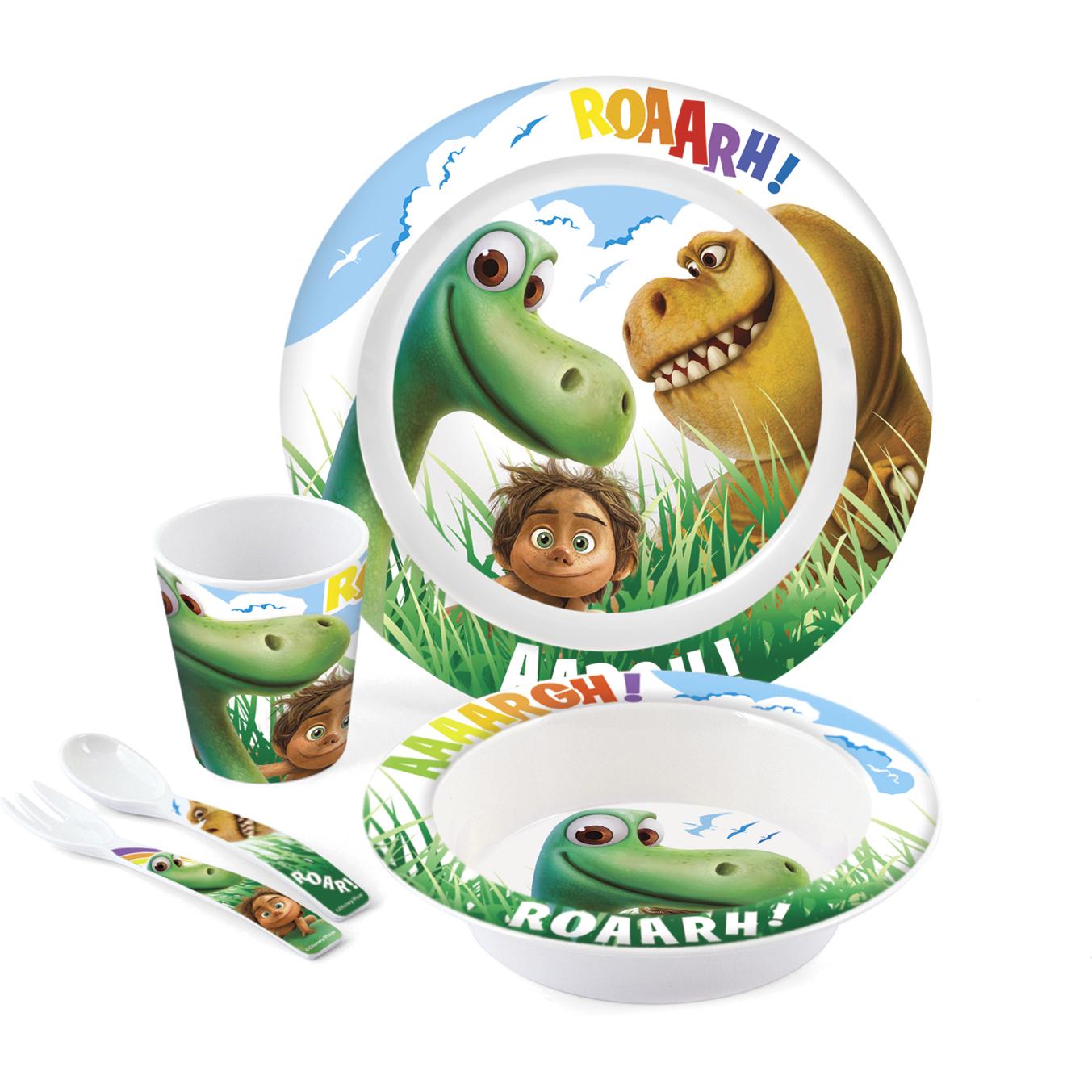 Set Pentru Masa Melamina 5 Piese Bunul Dinozaur Lulabi 8139900