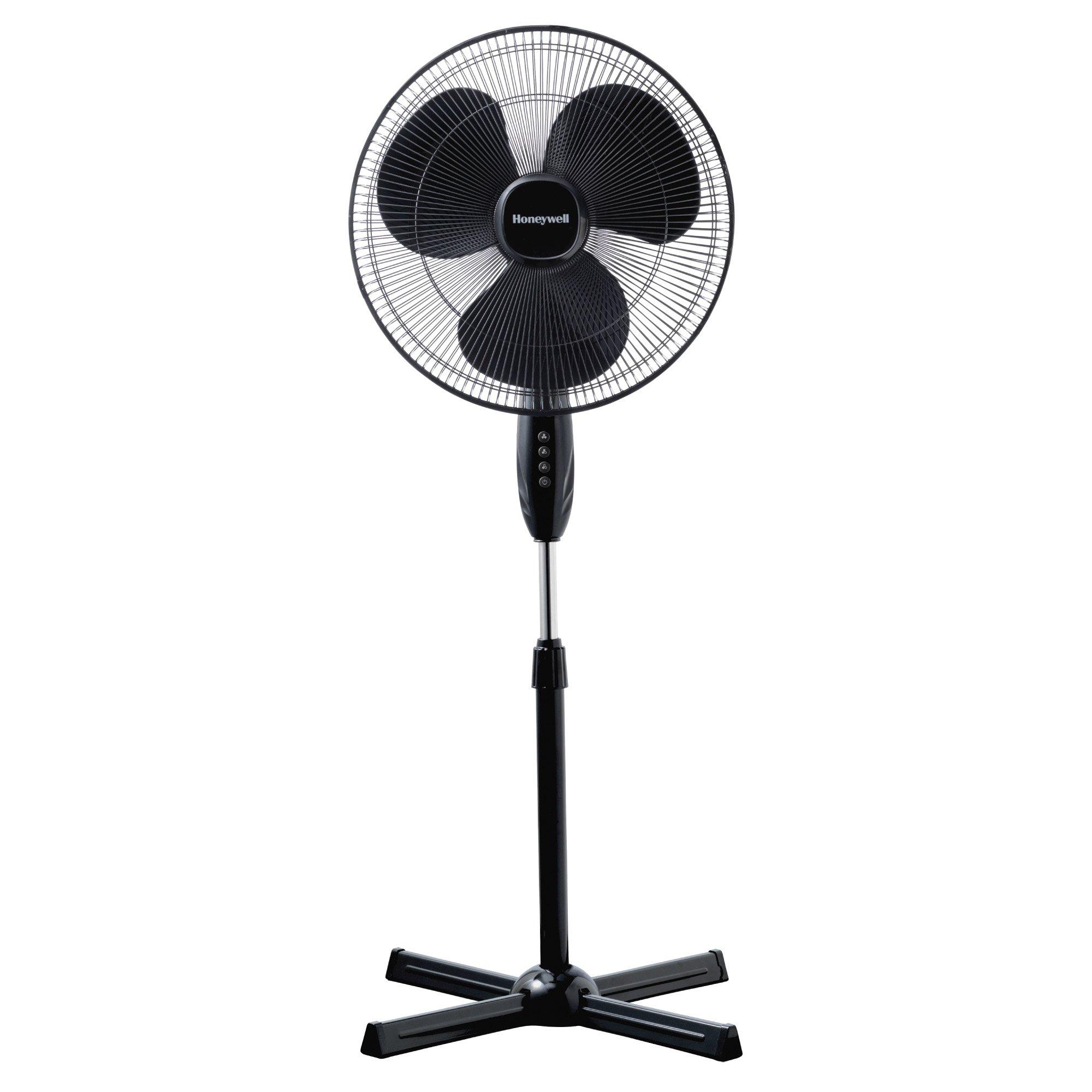 Ventilator cu picior Honeywell HSF1630E, 3 viteze, inaltime reglabila 110 - 122 cm, Negru imagine