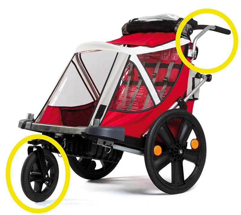 Bellelli Urban Kit pentru remorca de bicicleta B-Travel (set roata frontala si maner) imagine