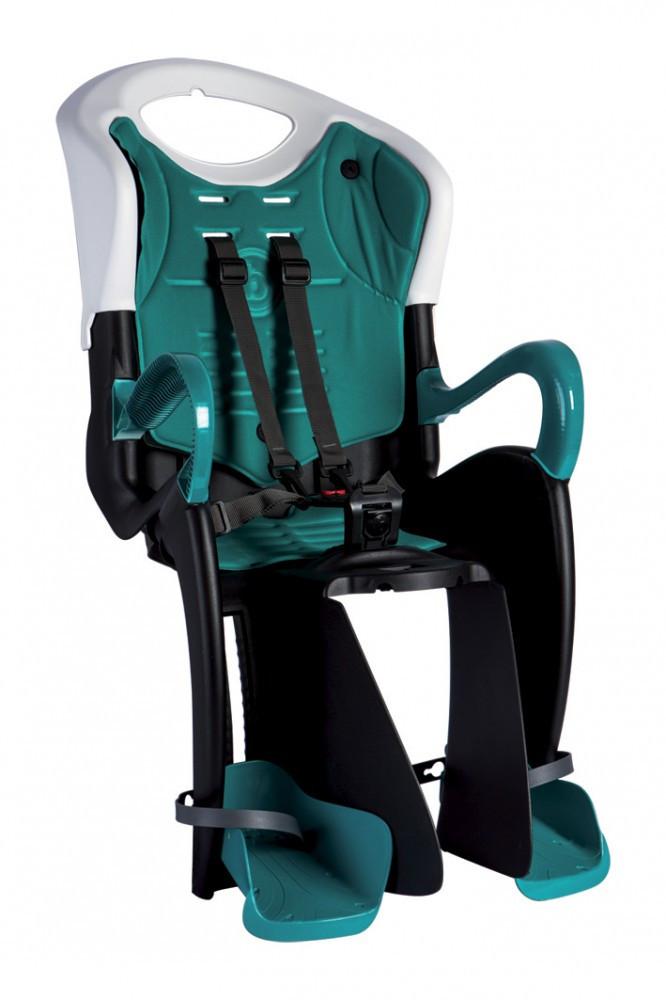 Bellelli Tiger Clamp scaun bicicleta pentru copii pana la 22kg - White Turquoise imagine