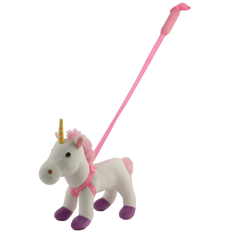 Unicorn din plus cu lesa