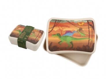 Cutie pentru pranz din bambus - Dinozaur imagine