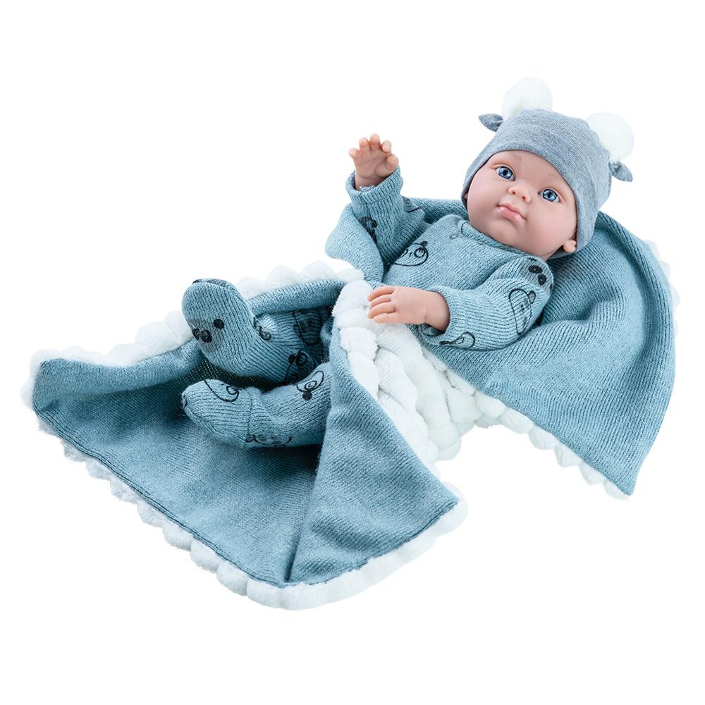 Bebelus baietel cu paturica gri - MINI PIKOLIN, Paola Reina