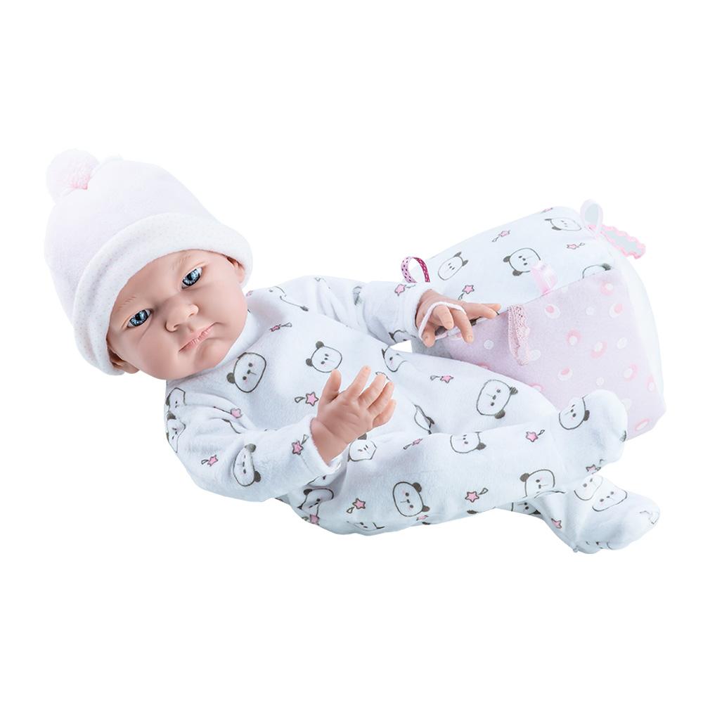 Bebelus fetita in salopeta alba cu ursuleti - Pikolin, Paola Reina