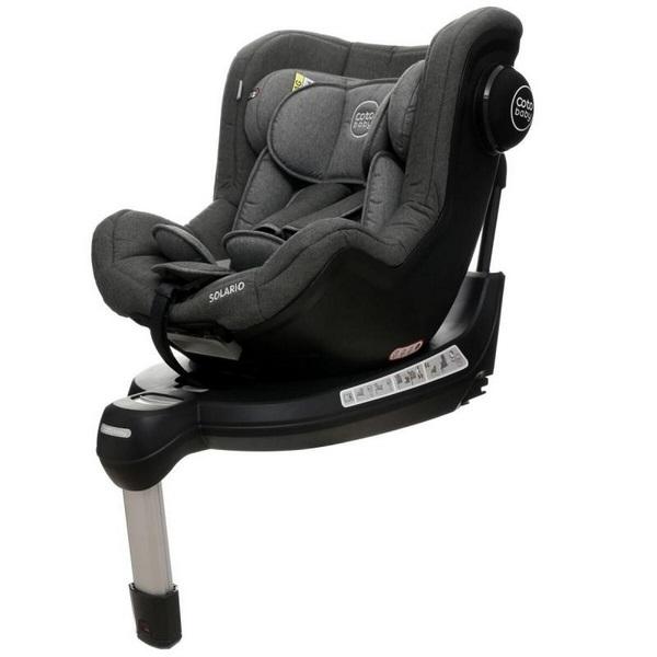 Scaun auto coto baby solario melange grey 360 grade isofix 0-18 kg imagine