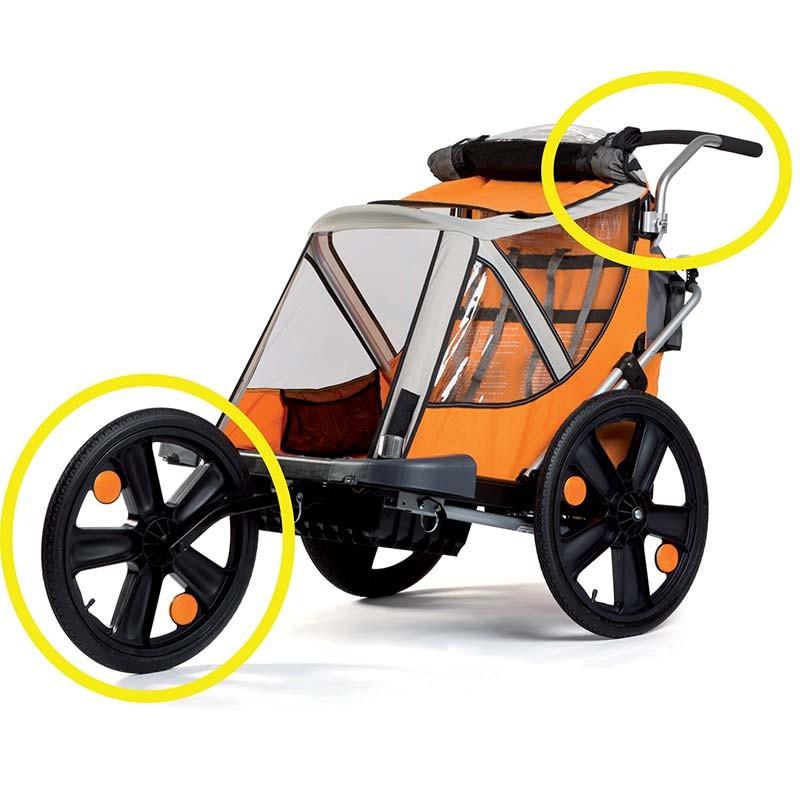 Bellelli Jogging Kit pentru remorca de bicicleta B-Travel (set roata frontala si maner) imagine