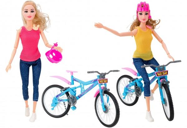 Papusa Globo cu bicicleta si casca