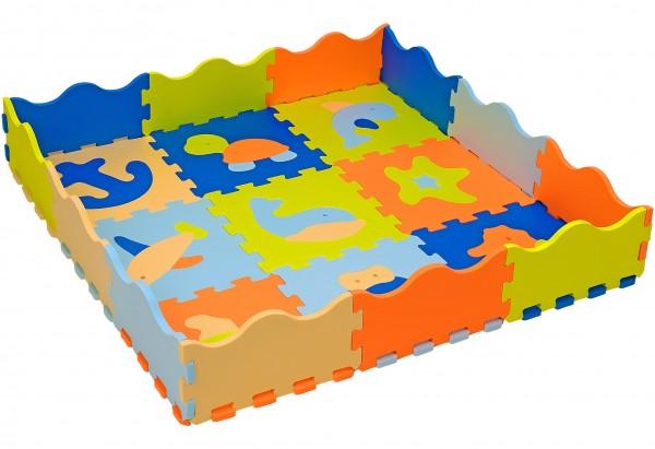 Puzzle burete cu animale pentru copii Globo Vitamina G 9 piese Eva cu margini