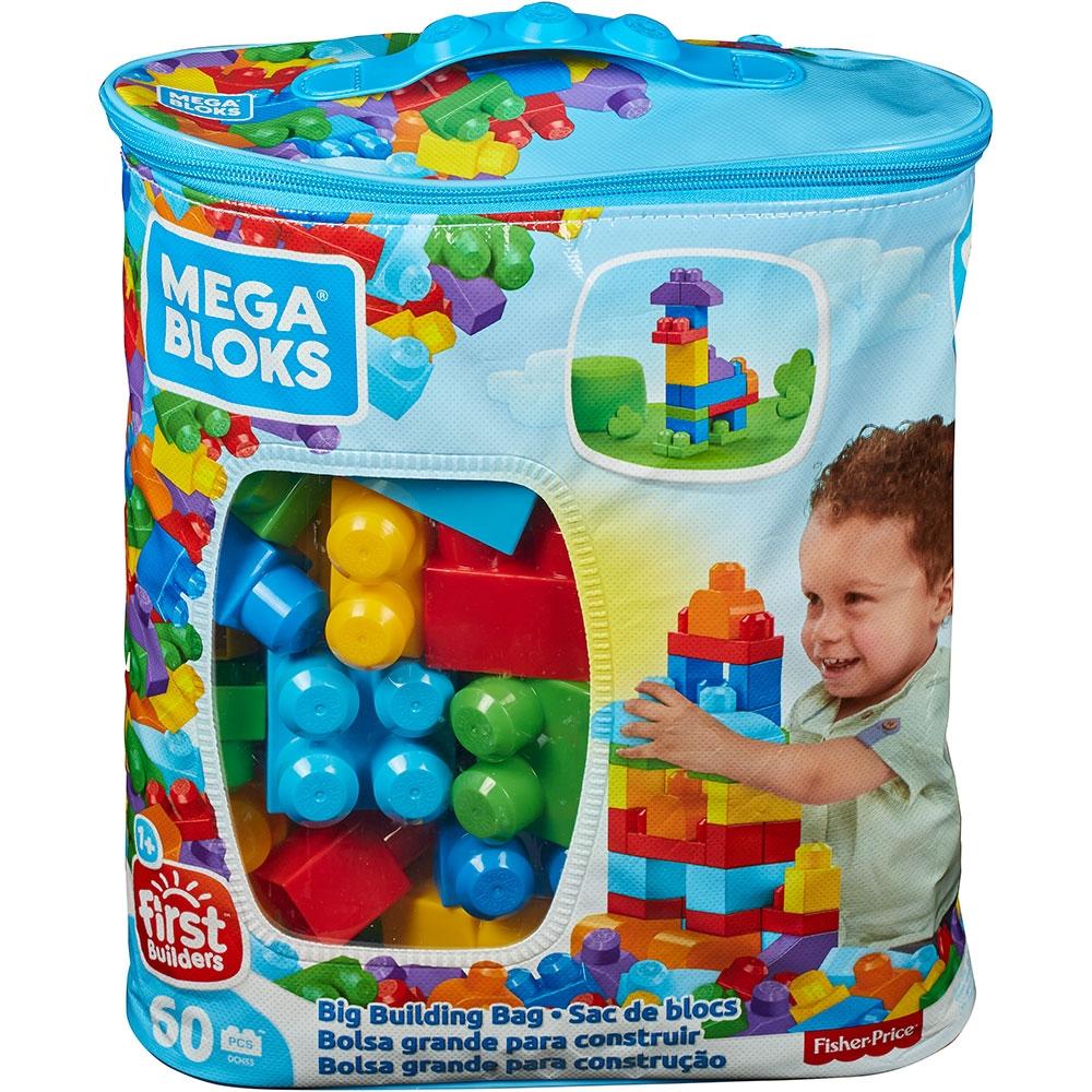 Jucarie Fisher Price Mega Blocks Primele Cuburi de construit 60 piese
