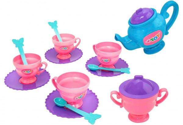 Set ceai Globo pentru copii din plastic 14 piese
