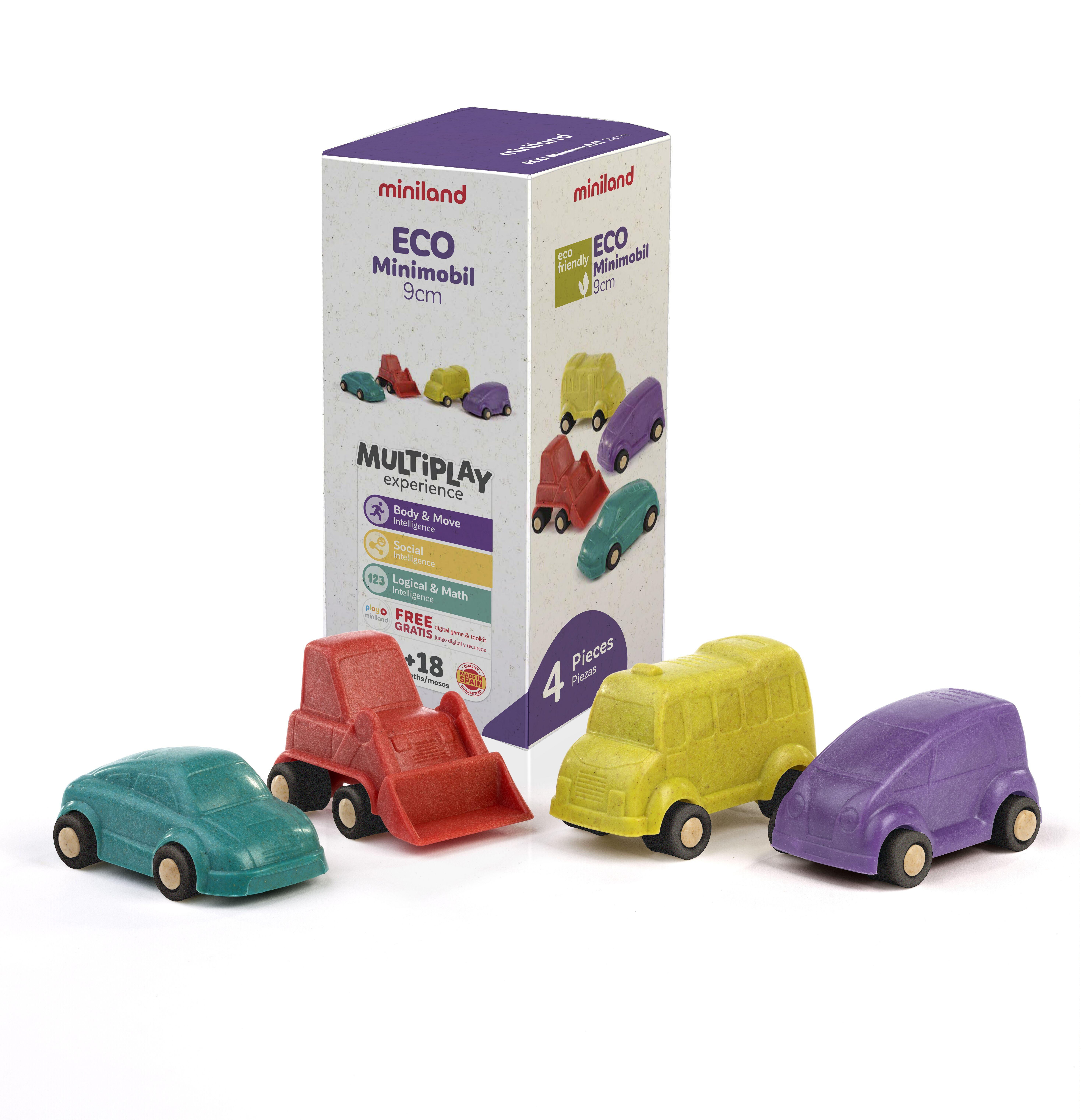 Set 4 vehicule 9 cm Minimobile ECO