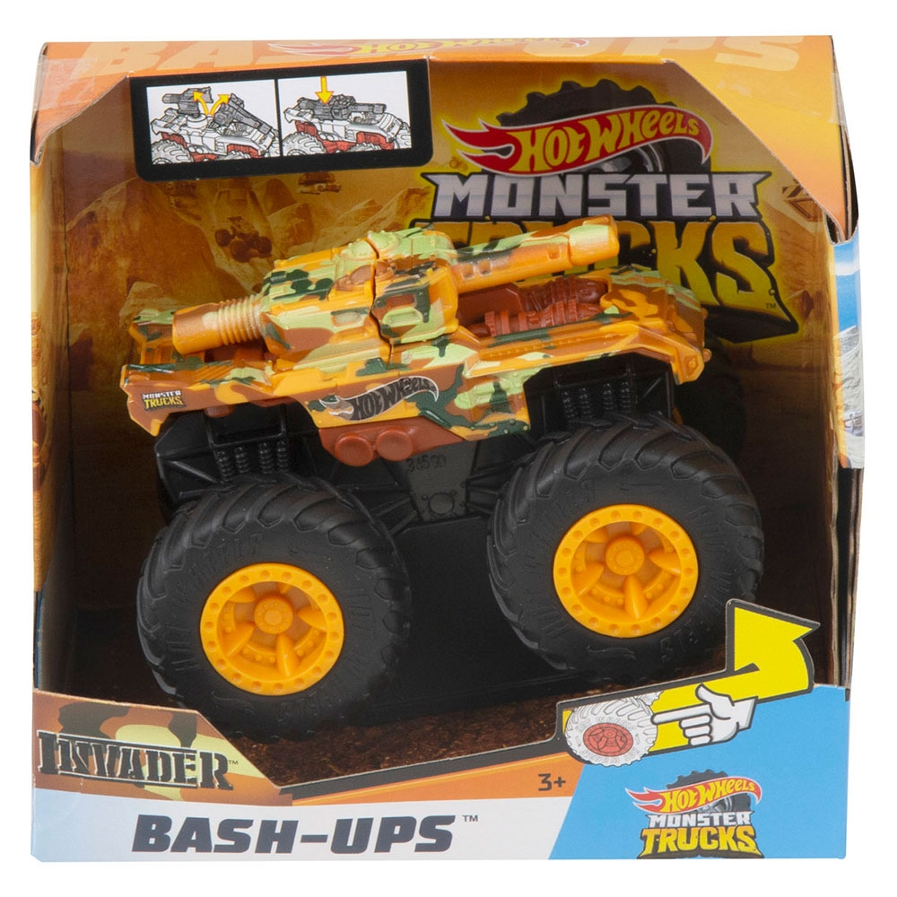 Masina Hot Wheels by Mattel Monster Trucks Invader