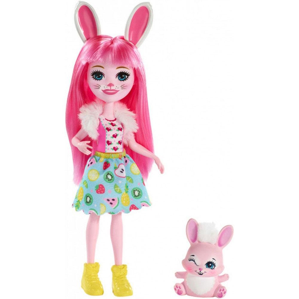 Papusa Enchantimals by Mattel Bree Bunny cu figurina