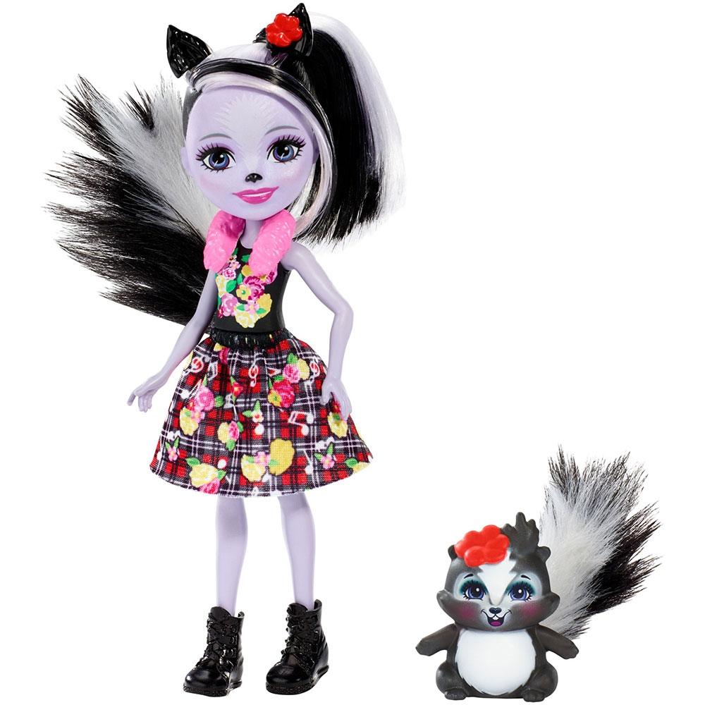 Papusa Enchantimals by Mattel Sage Skunk cu figurina