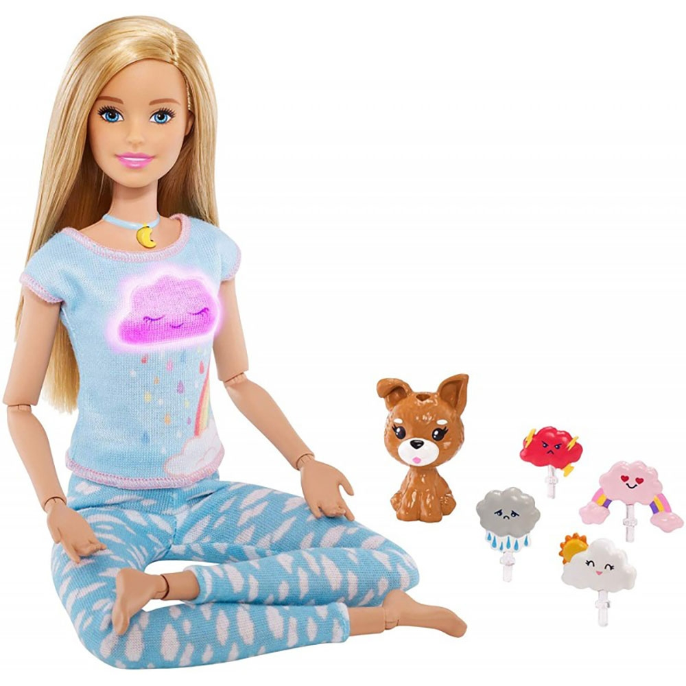 Set Barbie by Mattel Wellness and Fitness papusa mediteaza