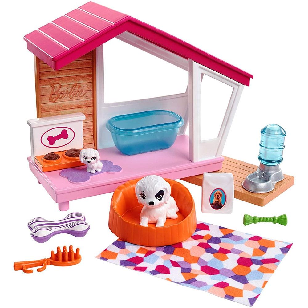 Set Barbie by Mattel Estate Casuta catei cu accesorii FXG34