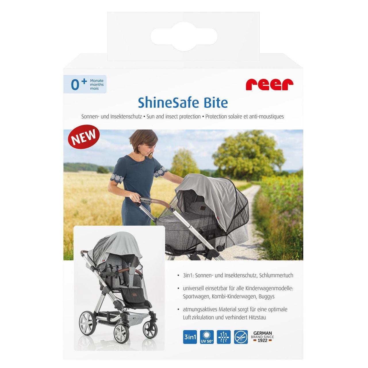 Plasa de protectie impotriva soarelui si a insectelor REER ShineSafe Bite pentru carucioare de bebelusi imagine