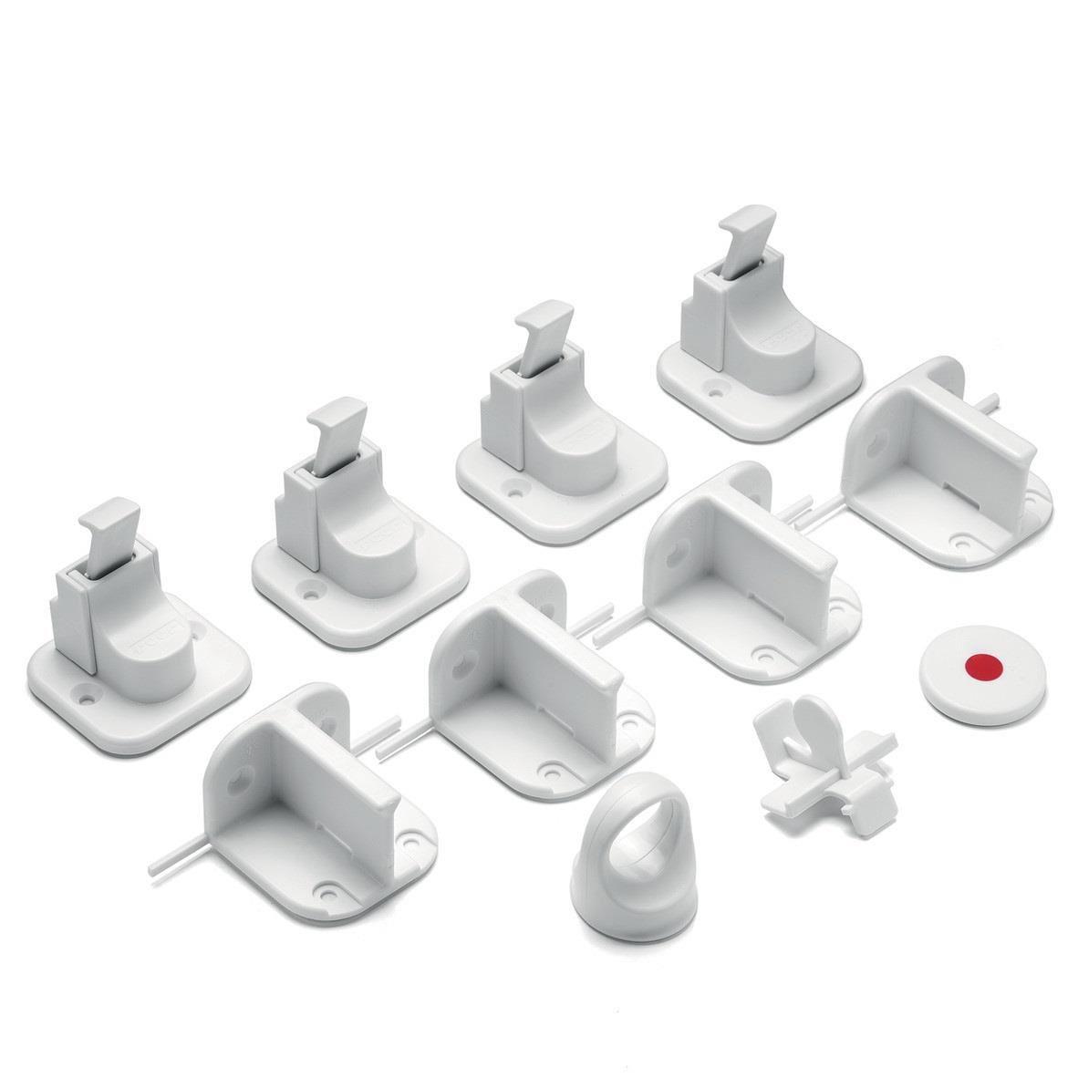 Pachet economic 4 incuietori magnetice pentru sertare si usi de dulapuri REER 51020 imagine