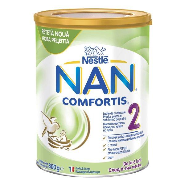 Lapte de continuare pentru sugari Nestlé NAN COMFORTIS 2, de la 6 luni, 800g imagine