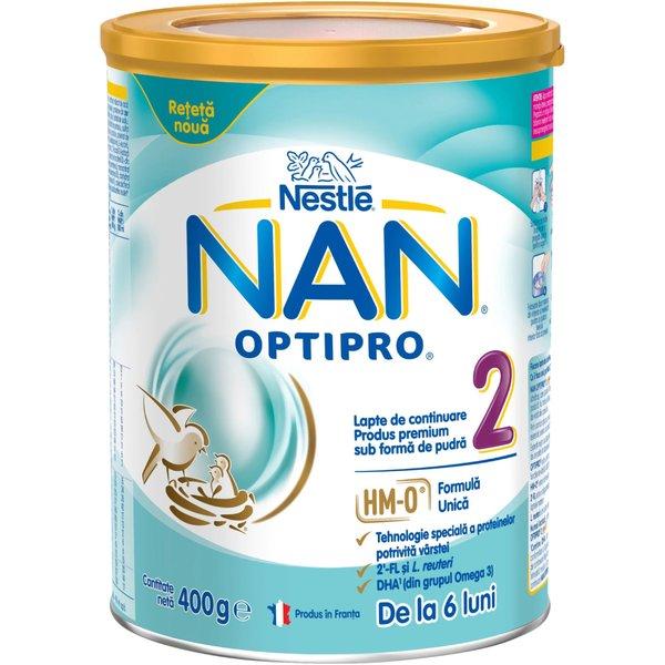 Lapte de continuare pentru sugari Nestlé NAN OPTIPRO 2 HM-O, de la 6 luni, 400g imagine