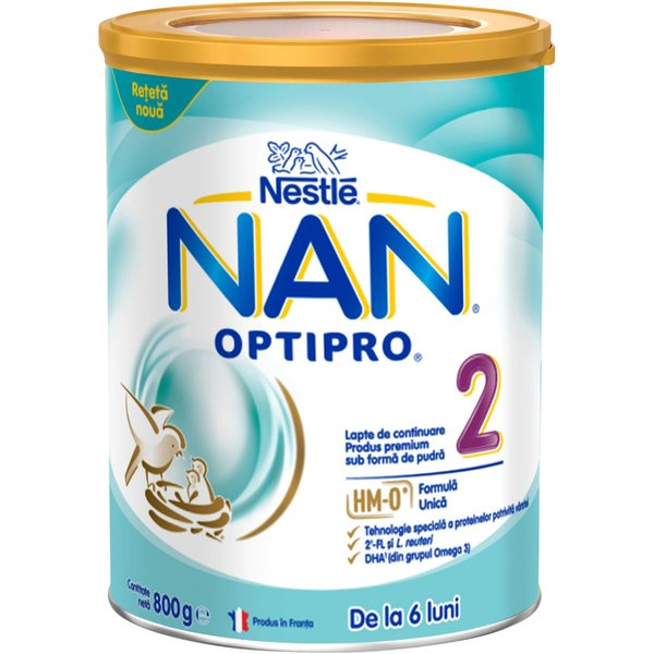 Lapte de continuare pentru sugari Nestlé NAN OPTIPRO 2 HM-O, de la 6 luni, 800g imagine
