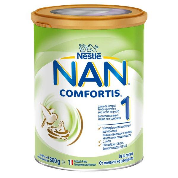 Lapte de inceput pentru sugari Nestlé NAN COMFORTIS 1, de la nastere, 800g imagine