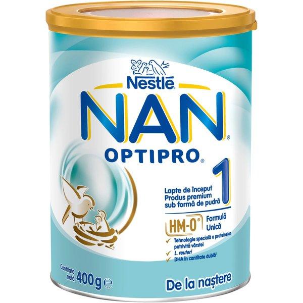 Lapte de inceput pentru sugari Nestlé NAN OPTIPRO 1 HM-O, de la nastere, 400g imagine