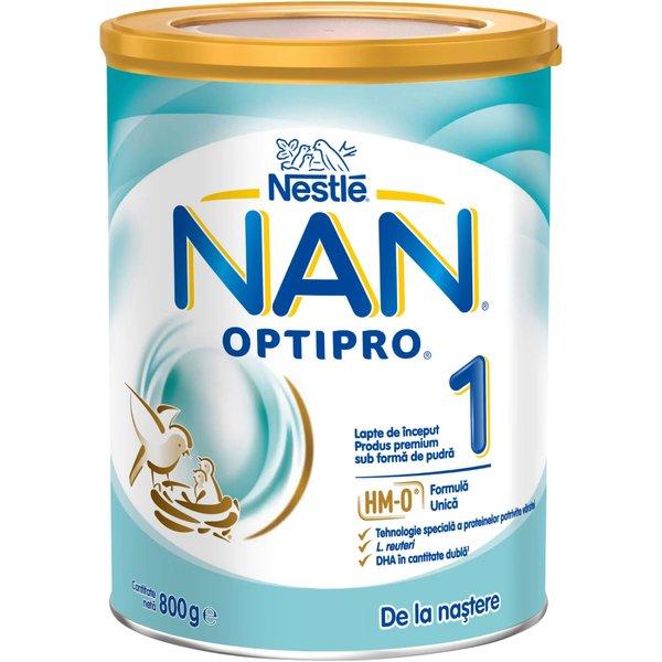 Lapte de inceput pentru sugari Nestlé NAN OPTIPRO 1 HM-O, de la nastere, 800g imagine