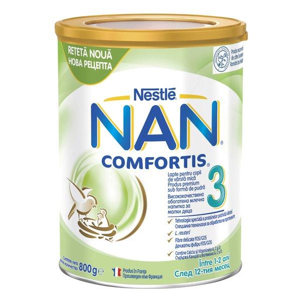Lapte pentru copii de varsta mica Nestlé NAN COMFORTIS 3, intre 1-2 ani, 800g imagine