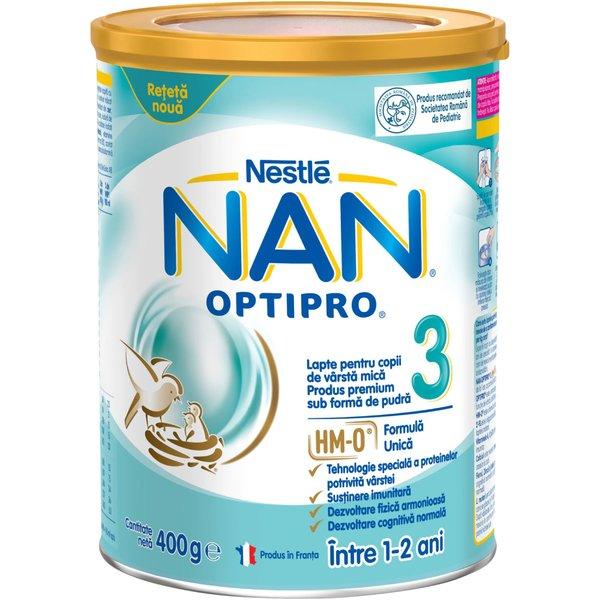 Lapte pentru copii de varsta mica Nestlé NAN OPTIPRO 3 HM-O, intre 1-2 ani, 400g imagine