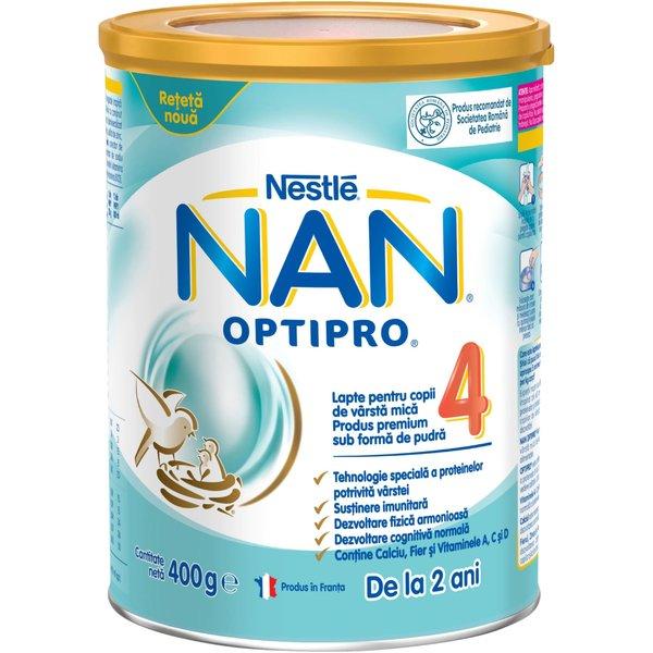 Lapte pentru copii de varsta mica Nestlé NAN OPTIPRO 4, de la 2 ani, 400g imagine