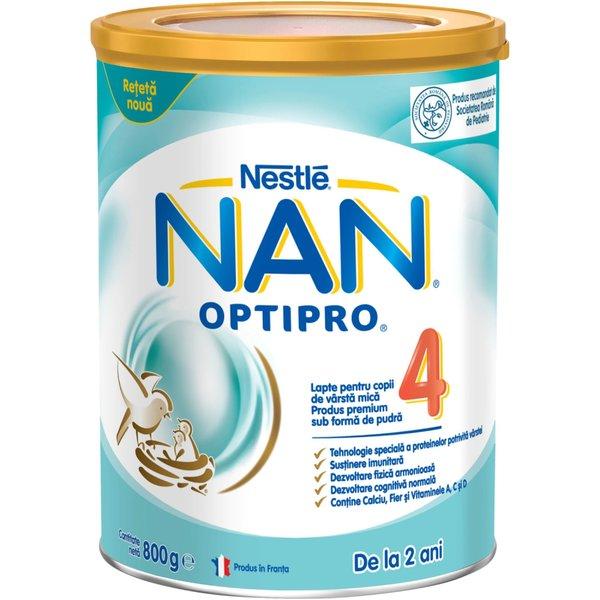 Lapte pentru copii de varsta mica Nestlé NAN OPTIPRO 4, de la 2 ani, 800g imagine