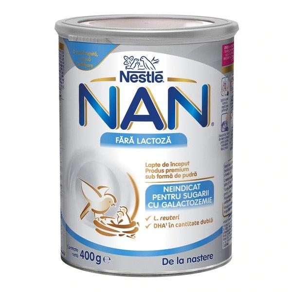 Nestle NAN Fara Lactoza, 400g, de la nastere imagine
