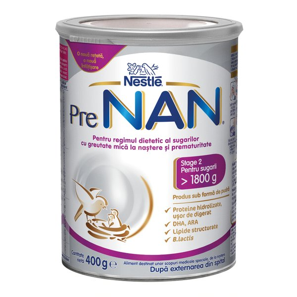Nestle PreNAN® Stage 2, de la nastere, 400g imagine