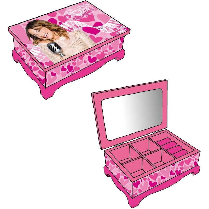 Caseta bijuterii din lemn Disney Violetta imagine