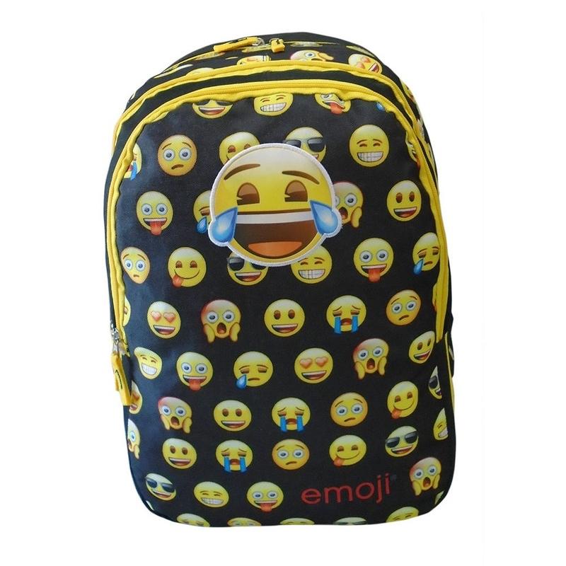 Ghiozdan Emoji Faces negru imagine
