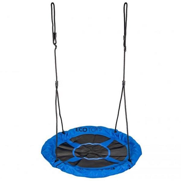 Leagan pentru copii ecotoys boc100, cuib de barza, cadru din otel galvanizat, albastru imagine