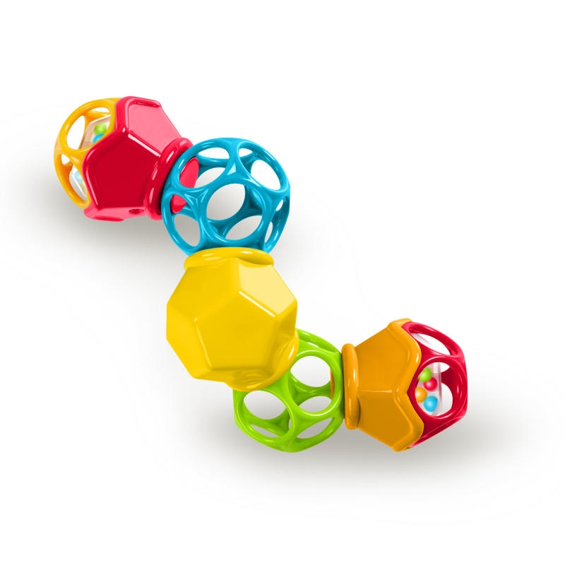 Bright Starts - Jucarie Clicky Twister™ Easy-Grasp Rattle Oball imagine