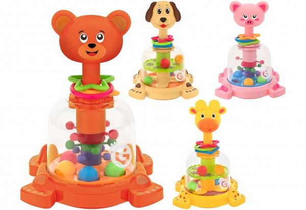 Jucarie bebelusi Globo Spinner cu animale