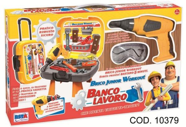 Banc de lucru cu scule 30 piese si surubelnita electrica RS Toys